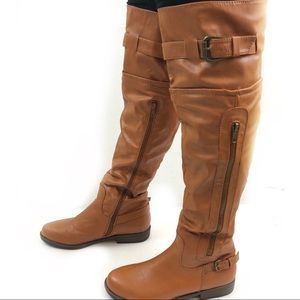 Just fab Over the Knee Boots Brown